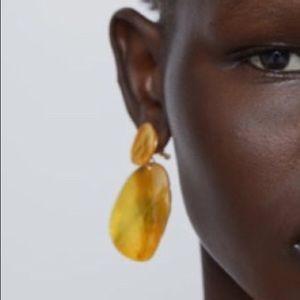 Zara Enameled Shell Earrings